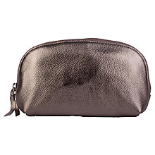 Buy Smith & Canova Leather Make-Up Bag, Pewter Online at johnlewis.com