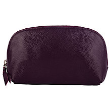 Buy Smith & Canova Leather Make-Up Bag, Imperial Online at johnlewis.com