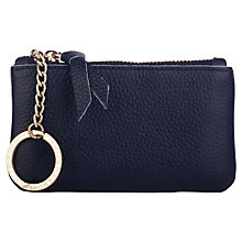 Buy Smith & Canova Leather Coin Purse, Navy Online at johnlewis.com