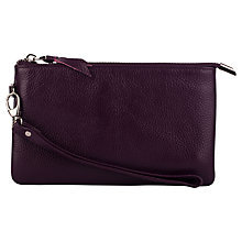 Buy Smith & Canova Leather Clutch, Imperial Online at johnlewis.com