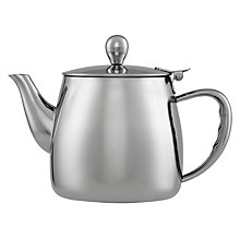 Buy John Lewis Stainless Steel Tea Pot, 1L Online at johnlewis.com