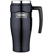 Buy Thermos King Travel Mug, 470ml, Matt Black Online at johnlewis.com