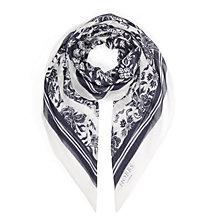 Buy Hobbs Butterfly Scarf, Navy/Pebble Online at johnlewis.com