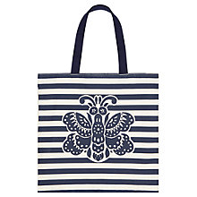 Buy Hobbs Batik Butterfly Tote Bag, Navy/Pebble Online at johnlewis.com
