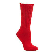 Buy John Lewis Cashmere Mix Ribbed Ankle Socks Online at johnlewis.com