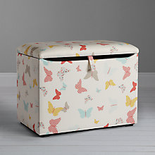 Buy little home at John Lewis Butterflies Fabric Toy Box Online at johnlewis.com
