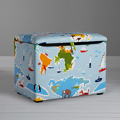 little home at John Lewis Globe Trotter Fabric Toy Box