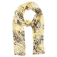 Buy Jacques Vert Spring Floral Scarf, Primrose Online at johnlewis.com