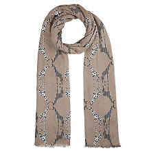 Buy John Lewis Giraffe Print Scarf, Natural Online at johnlewis.com