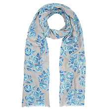 Buy John Lewis Rose Drawing Scarf, Blue Online at johnlewis.com