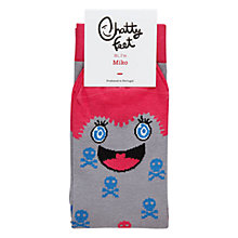 Buy Chatty Feet Miko Socks, Purple Online at johnlewis.com