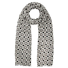 Buy COLLECTION by John Lewis Two Tone Parque Print Scarf, Neutral Online at johnlewis.com