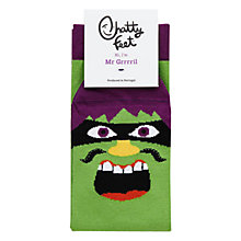 Buy Chatty Feet Mr. Grrrril Socks, Green Online at johnlewis.com