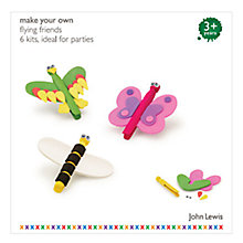 Buy John Lewis Make Your Own Flying Friends Set, Pack of 6 Online at johnlewis.com