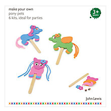 Buy John Lewis Make Your Own Pony Pets Party Pack, Set of 6 Online at johnlewis.com