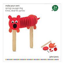 Buy John Lewis Make Your Own Springy Dog Party Pack, Set of 6 Online at johnlewis.com