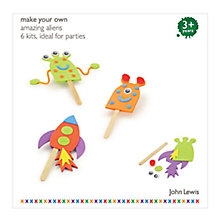Buy John Lewis Amazing Aliens Party Pack of 6, Assorted Online at johnlewis.com