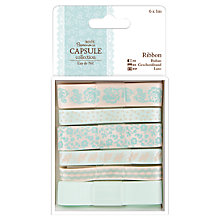 Buy Papermania Eau De Nil Ribbons, Pack of 6, Multi Online at johnlewis.com