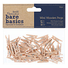 Buy Docraft Mini Wooden Pegs, 50pcs Online at johnlewis.com