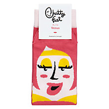 Buy Chatty Feet Venus Socks, Pink Online at johnlewis.com