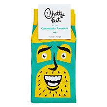 Buy Chatty Feet Commander Awesome Socks, Blue Online at johnlewis.com