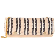 Buy Ted Baker Lexies Exotic Clutch Bag, Cream Online at johnlewis.com