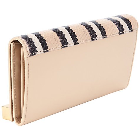 Buy Ted Baker Lalangs Exotic Bar Purse, Cream Online at johnlewis.com