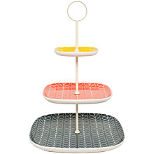Buy Orla Kiely Linear Stem 3-Tier Cake Stand Online at johnlewis.com
