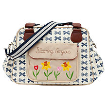 Buy Pink Lining Blooming Gorgeous Changing Bag, Navy Bow Online at johnlewis.com