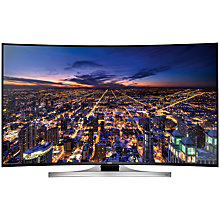 "Buy Samsung UE65HU8200 Curved 4K Ultra HD 3D Smart TV, 65"" with Freeview/Freesat HD and 2x 3D Glasses FREE Wireless Multiroom Speaker, White & Hub Online at johnlewis.com"