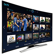 "Buy Samsung UE55HU8200 Curved 4K Ultra HD 3D Smart TV, 55"" with Freeview/Freesat HD and 2x 3D Glasses FREE Wireless Multiroom Speaker, Black & Hub Online at johnlewis.com"