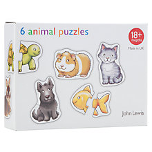 Buy John Lewis 6 Animal Puzzles Online at johnlewis.com