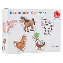 Buy John Lewis 6 Farm Animal Puzzles Online at johnlewis.com