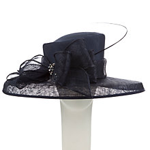 Buy John Lewis Elle Medium Down Brim Diamante Bow Occasion Hat, Navy Online at johnlewis.com
