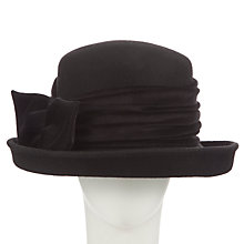 Buy John Lewis Ella Felt Cloche Occasion Hat, Black Online at johnlewis.com