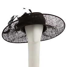 Buy John Lewis Eden Medium Side Up Occasion Hat, Black Online at johnlewis.com