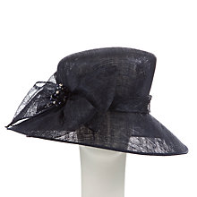 Buy John Lewis Jodie Large Down Brim with Diamanté Occasion Hat, Navy Online at johnlewis.com