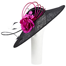 Buy John Lewis Izzy Ocassion Hat, Black/Magenta Online at johnlewis.com
