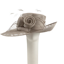 Buy John Lewis Emelia Medium Side Up Occasion Hat, Grey Online at johnlewis.com