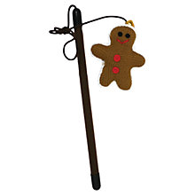 Buy Rosewood Gingerbread Cat Teaser Toy Online at johnlewis.com