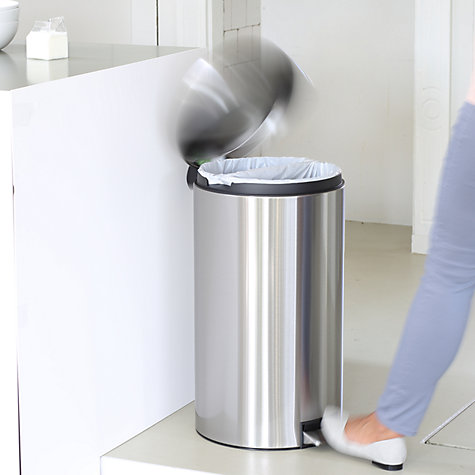 Buy Brabantia Twin Bin, Fingerprint Proof Matt Steel, 20L/20L Online at johnlewis.com