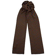 Buy John Smedley Ellipse Scarf, Brown/Charcoal Online at johnlewis.com