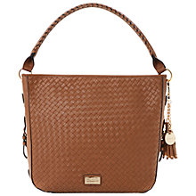 Buy Dune Doboweave Woven Detail Hobo Bag, Tan Online at johnlewis.com