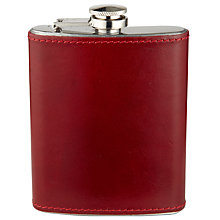 Buy John Lewis Leather Bound Hip Flask Online at johnlewis.com