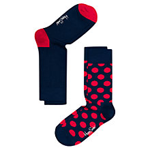 Buy Happy Socks Big Dot Socks, Pack of 2, One Size, Navy/Red Online at johnlewis.com