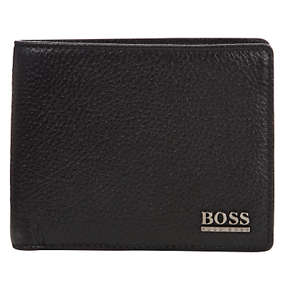 BOSS Monist Leather Billfold Wallet, Black