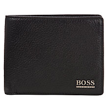 Buy BOSS Monist Leather Billfold Wallet, Black Online at johnlewis.com