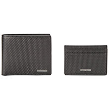 Buy BOSS Ottaviano Wallet & Card Set, Black Online at johnlewis.com