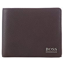 Buy BOSS Monist Billfold Leather Wallet, Brown Online at johnlewis.com
