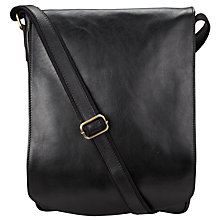 Buy John Lewis Made in Italy Leather Messenger Bag, Black Online at johnlewis.com